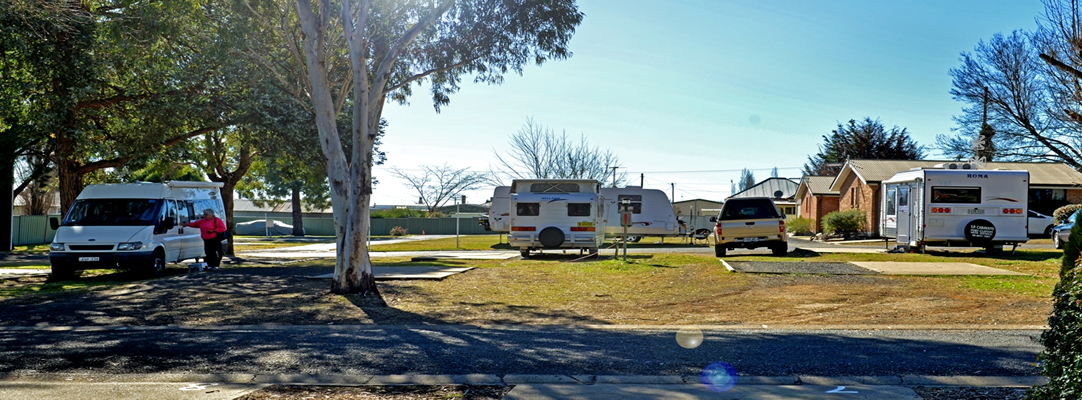 Spacious Sites for caravanners and campers